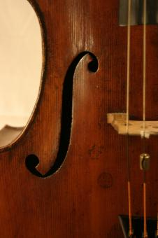 Free Stock Photo of Cello closeup