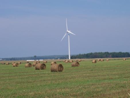 Free Stock Photo of Turbine in a farmers field