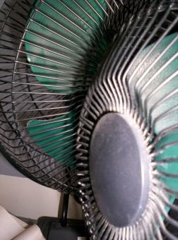 Free Stock Photo of Fan and Grill