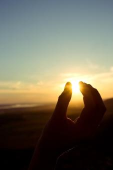 Free Stock Photo of Touching the sun