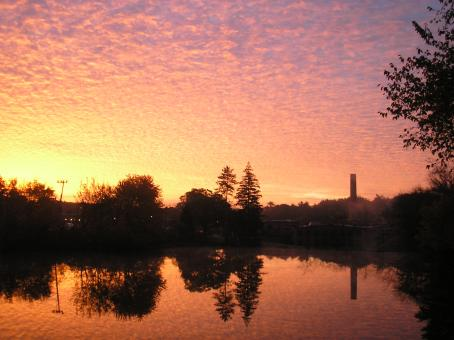Free Stock Photo of Sunrise over Arkwright