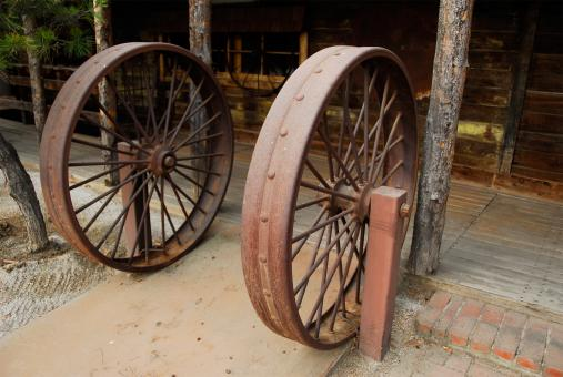 Free Stock Photo of Iron Wagon Wheel Dutch Frontier