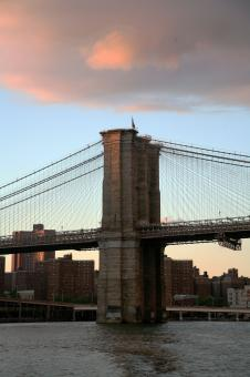 Free Stock Photo of NY Bridge at Sunset