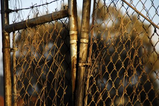 Free Stock Photo of Corroded & Rusted Chain-Link Fence
