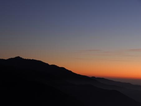 Free Stock Photo of Dusk in Sequoia National Park (Panoramic