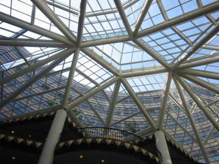 Free Stock Photo of Glass roof structure