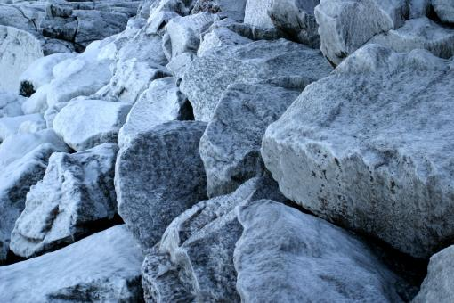Free Stock Photo of Icy rocks
