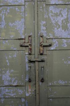 Free Stock Photo of Old Metal Door