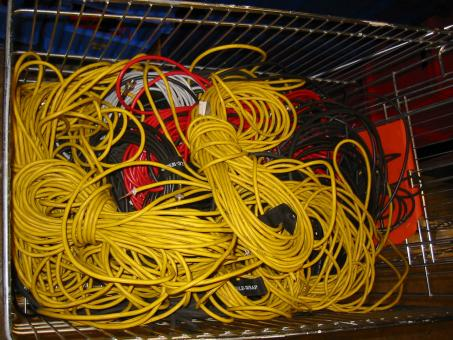 Free Stock Photo of A bunch of yellow cables