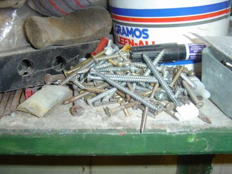 Free Stock Photo of A pile of screws