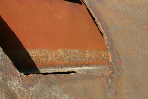 Free Stock Photo of Rusted metal plates