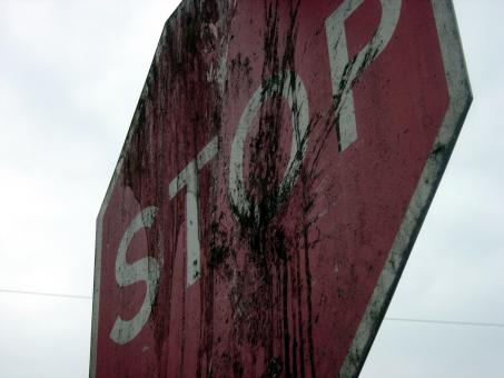 Free Stock Photo of Dirty stop sign