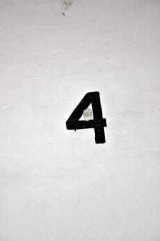 Free Stock Photo of Number four