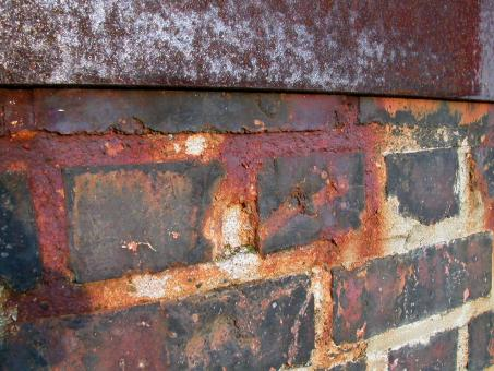Free Stock Photo of Rusted brick wall