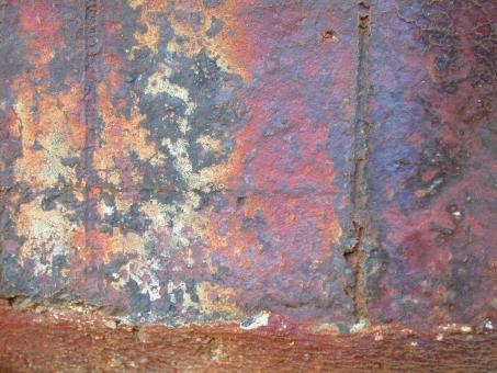 Free Stock Photo of Rusted Wall