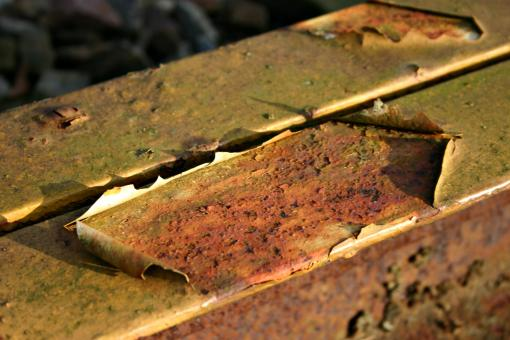 Free Stock Photo of Rusted metal bar