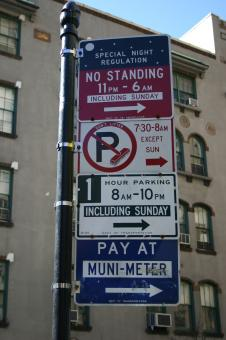 Free Stock Photo of Parking signs