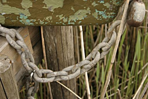 Free Stock Photo of Rusted chain
