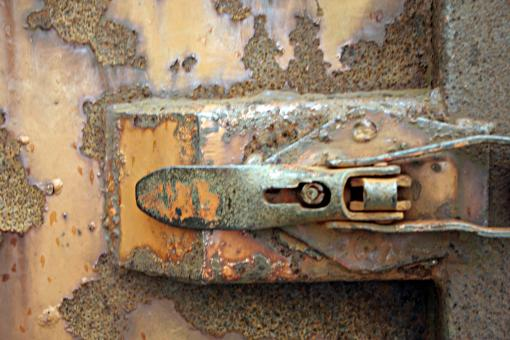 Free Stock Photo of Rusted lock
