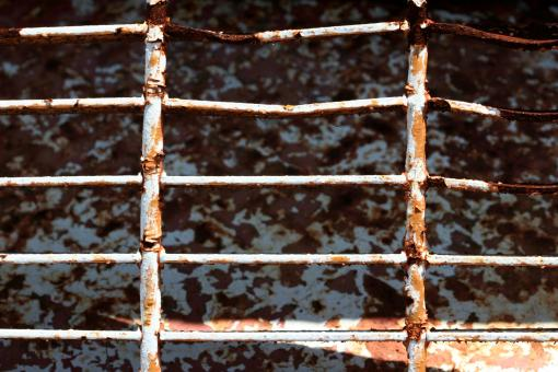 Free Stock Photo of Rusted metal fence