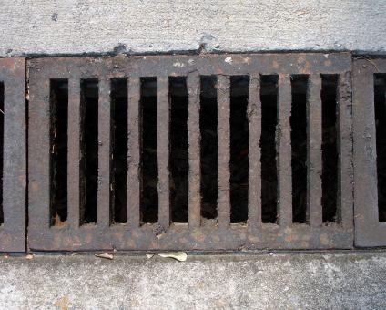 Free Stock Photo of Rusted drain
