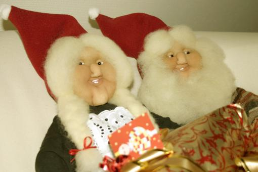 Free Stock Photo of Christmas puppets