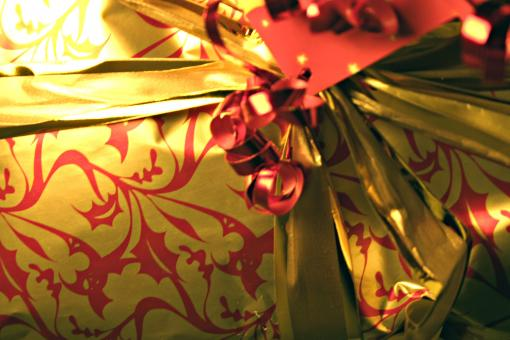 Free Stock Photo of Gift wrap close up
