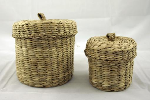 Free Stock Photo of 2 weaved baskets