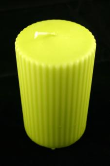 Free Stock Photo of Lime colored candle