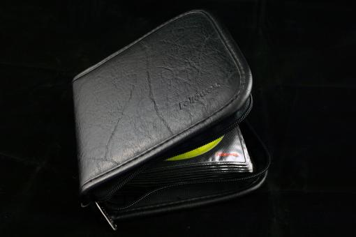 Free Stock Photo of Black CD bag