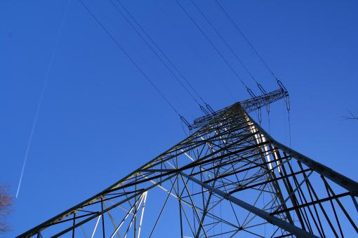 Free Stock Photo of Electrical tower