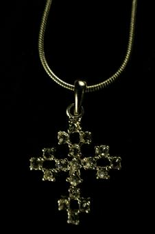 Free Stock Photo of Cross neclace