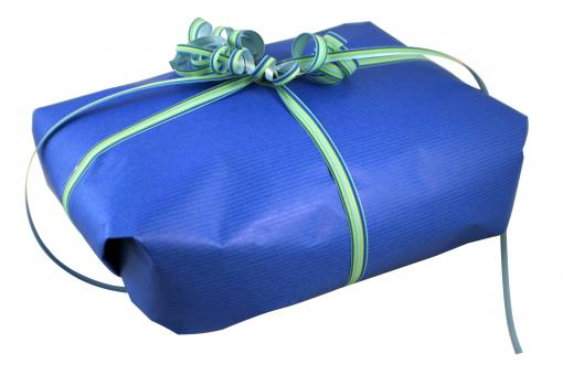 Free Stock Photo of Gift wrapped present