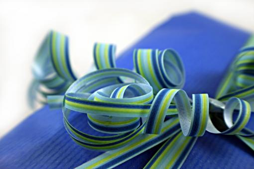 Free Stock Photo of Blue and green ribbon