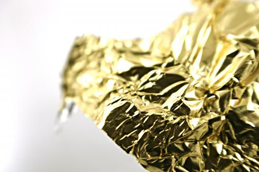 Free Stock Photo of Golden tin foil