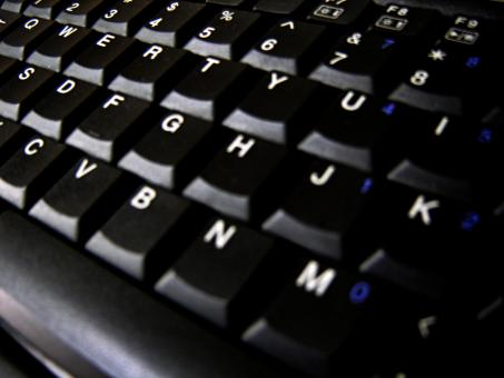 Free Stock Photo of Black keyboard