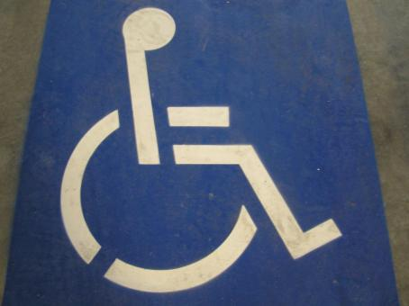 Free Stock Photo of Disabled road sign
