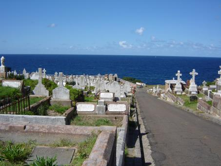Free Stock Photo of Cemetery by the sea