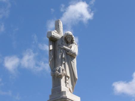 Free Stock Photo of Statue of christ