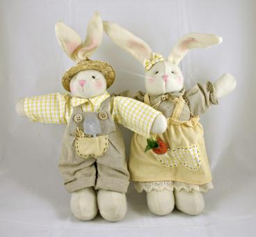 Free Stock Photo of Easter rabbit dolls