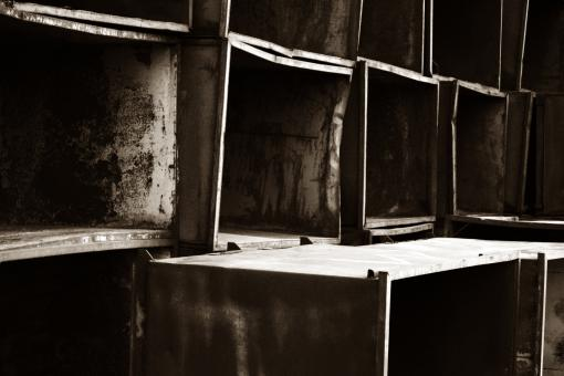 Free Stock Photo of Piled metal boxes