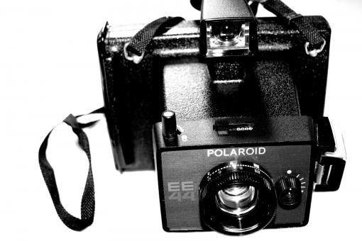 Free Stock Photo of Old polaroid camera