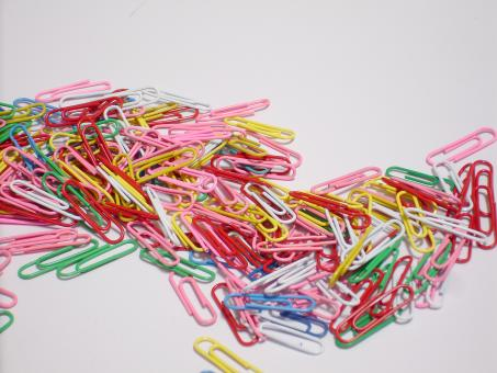 Free Stock Photo of Paper clips