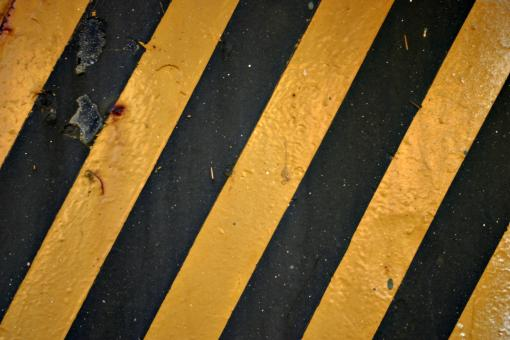 Free Stock Photo of Black and yellow stripes