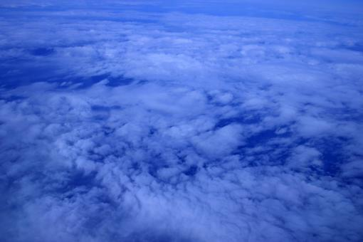 Free Stock Photo of High altitude cloud view