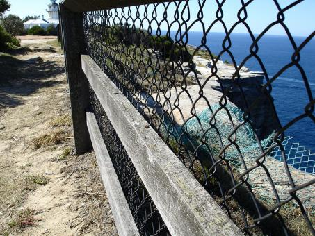 Free Stock Photo of Fence by the cliffs