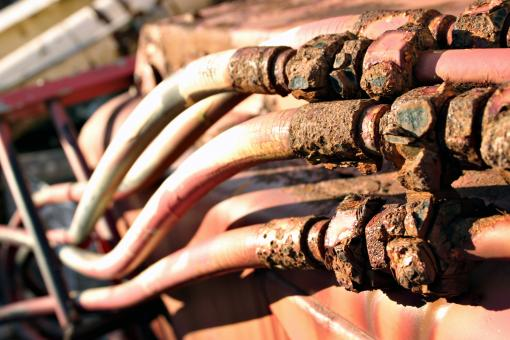 Free Stock Photo of Rusted pipes