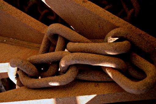 Free Stock Photo of Rusted Chains
