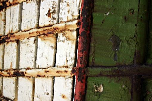 Free Stock Photo of Old painted wood