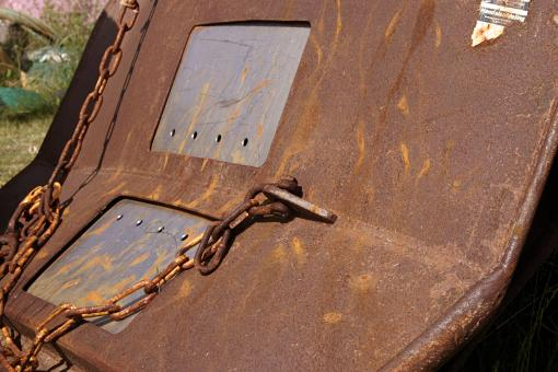 Free Stock Photo of Rusted metal block